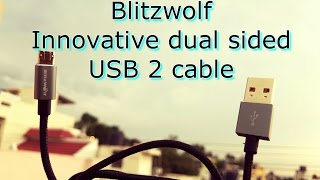 Innovative useful and $7 gadget: Blitzwolf Dual sided USB 2.1 cable