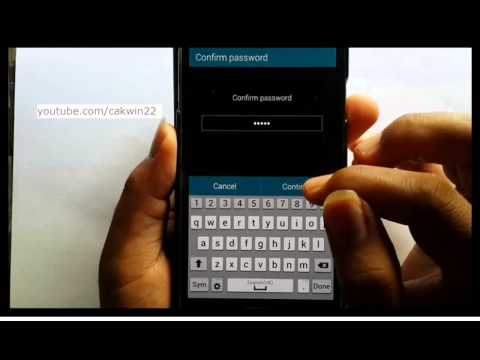 Samsung Galaxy S5 : How to remove password (Android Phone)