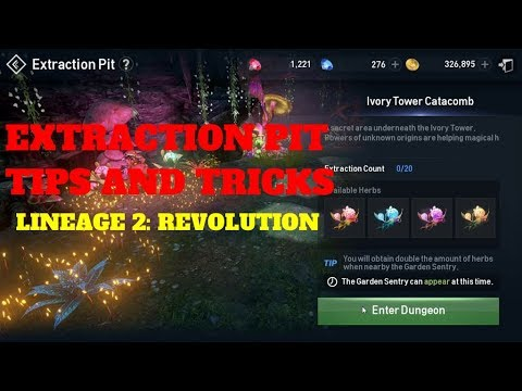 Lineage 2 Revolution Extraction Pit Tips and Tricks