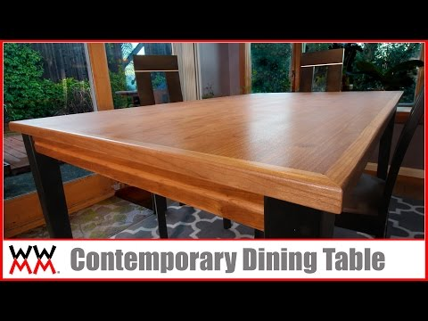 How to Make a Contemporary Dining Table | DIY Furniture