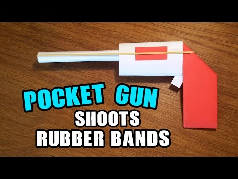 How To Make a Paper Mini / Pocket Gun That Shoots Rubber Bands - Easy Paper Gun Tutorials