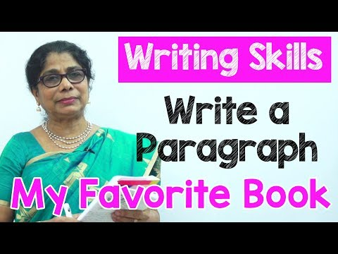 How to Write a Paragraph about My Favorite Book in English | Composition Writing  | Reading Skills