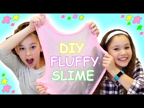 DIY FLUFFY SLIME! Our Favorite DIY Slime Tutorial! (Haschak Sisters)