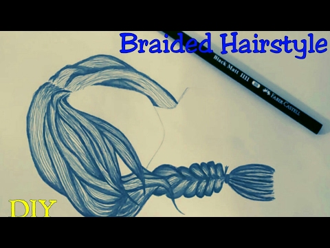 How to draw hair - Braided hairstyle