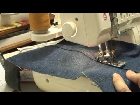 How to make denim jean seams with Singer Professional 5 serger Model 14T968DC