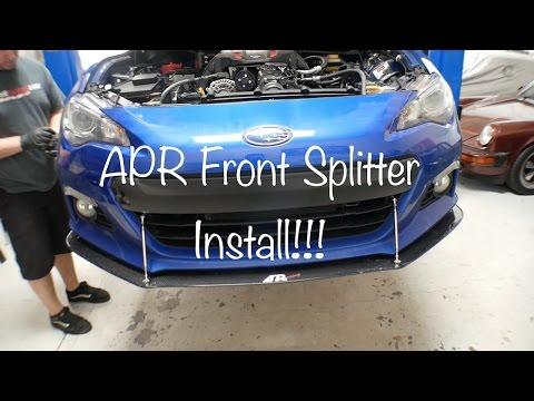 APR Splitter on the Subaru BRZ