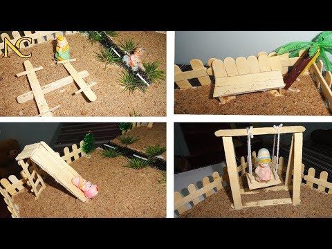 Diy park using Ice stick  | Ice stick craft | Nali craft