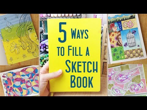 5 Ways to Fill a Sketchbook: Fun Drawing Ideas and Sketchbook Hacks