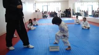 3-Year-Old Tries to Break Board in Taekwondo | Taekwondo Kid