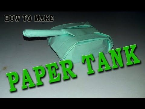 How to make paper tank - easy make paper tank - best paper tank - world famous easy paper tank