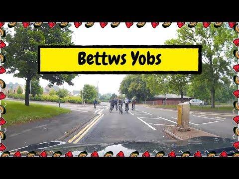 Lawless Behaviour -  Yobs On Mountain Bikes Blocking Bettws Lane, Newport