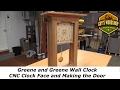 Greene and Greene Wall Clock - CNC Clock Face, Making the Door Pt.2