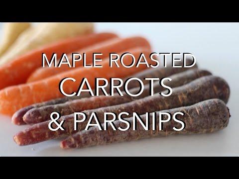 MAPLE ROASTED CARROTS & PARSNIPS - oil free vegan christmas recipe