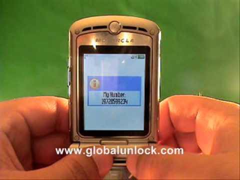 AT&T Motorola RAZR V3 Unlock Method Explained