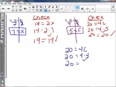 6th Grade 7-4: Solve and Write Multiplication Equations