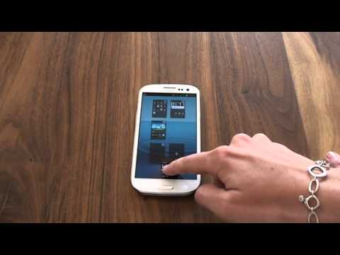 Samsung Galaxy S3 - How to delete a Homescreen