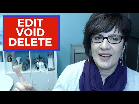 How to edit, void and delete transactions in QuickBooks Online