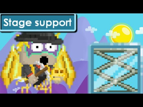 Growtopia | How to make a stage support