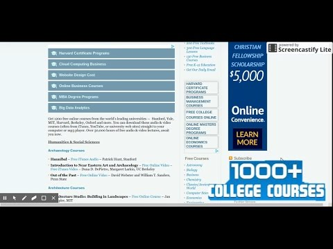 free online college courses +1000 courses