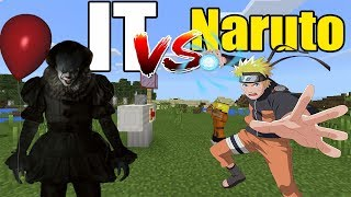 IT vs Naruto | Minecraft PE