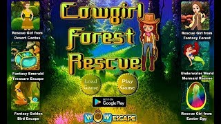 Wow Cowgirl Forest Rescue Walkthrough [wowescape]
