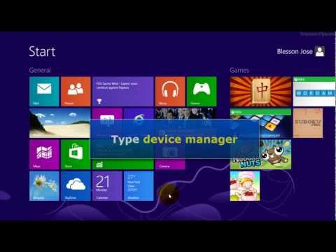 Windows 8 - How to open device manager
