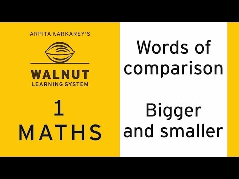1 Math - Words of comparison - Bigger and smaller