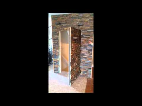 Secret Hidden Door in Stone Wall