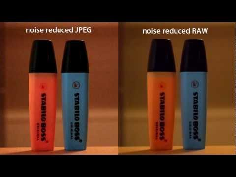RAW vs. JPEG: noise reduction // Canon 600D (T3i)