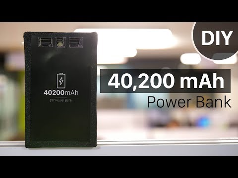 How to Build a 40,200mAh Power Bank in Under $5 (DIY)