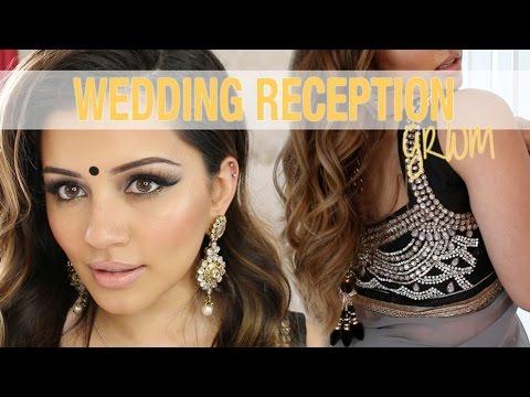 GRWM | Wedding Reception Party Makeup + Hair Tutorial | Kaushal Beauty
