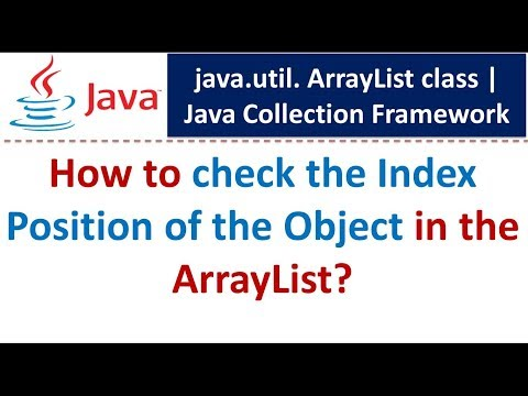 Java : Collection Framework : ArrayList (Check the Index Position of the Object)