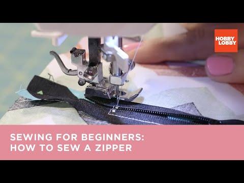 Learn to Sew: How to Make a Zipper Closure