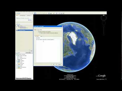 Google Earth tutorial #1 - Adding folders