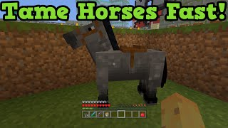 Minecraft Xbox 360 Ps3 Fastest Way To Tame A Horse