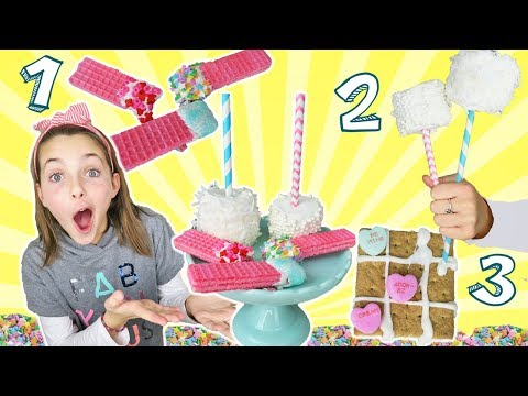 Three Quick And Easy Valentines Day Treats   Last Minute Treat   Kids Cooking and Crafts