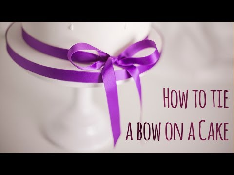 How to tie a bow around a cake - by Minh Cakes