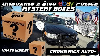 Unboxing 2 Police $100 Ebay Mystery Boxes! Crown Rick Auto