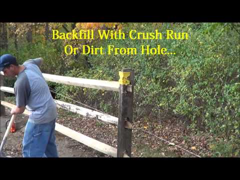 Black Locust Split Rail Fence