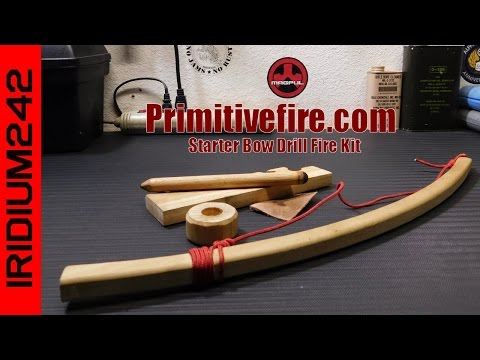 PrimitiveFire.com Starter Bow Drill Fire Kit