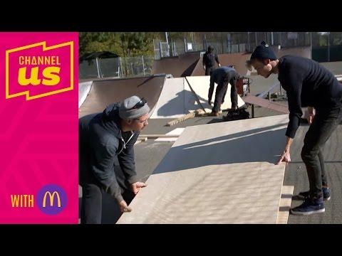 The build   72 hours to design a skatepark