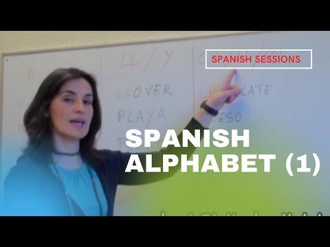 Spanish for Beginners Lesson 1 - Spanish Alphabet 1