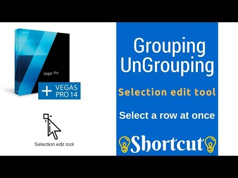 Sony Vegas | Grouping Ungrouping | Selection edit tool