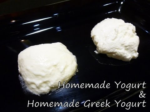Homemade Yogurt & Homemade Greek Yogurt Recipe