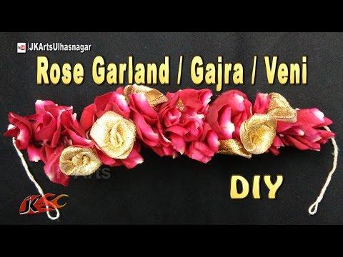 DIY Flower Garland /  Gajra / Veni for Indian Wedding   How to make   JK Arts 1087