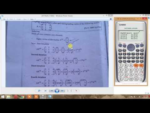 solve eigen vector problem using calculator