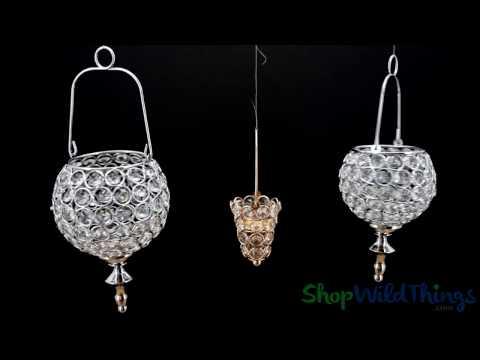 Prestige Real Crystal Beaded Hanging Candle Holders - ShopWildThings