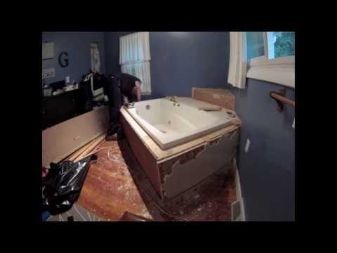 Bath tub removal Time Lapse