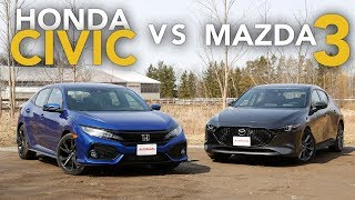 2019 Honda Civic vs Mazda3: Which One is the Better Hatchback?