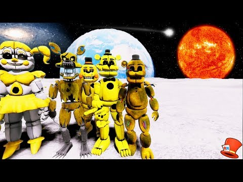 GOLDEN ANIMATRONICS TRAVEL TO A NEW PLANET! (GTA 5 Mods For Kids FNAF RedHatter)